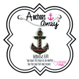 Anchor Necklace, Blue, Green, Pink
