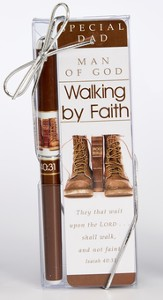 Special Dad, Man Of God, Walking By Faith Pen and Bookmark Gift Set