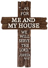 As For Me and My House Wall Cross