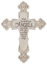 For He Shall Give His Angels Charge Wall Cross