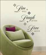Live Love Laugh, Vinyl Wall Sticker