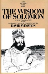 The Wisdom of Solomon: Anchor Yale Bible Commentary [AYBC]
