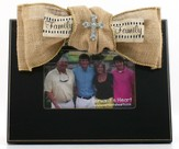 Family, with Bling Cross Photo Frame, with Burlap Bow