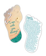 Footprints Matthew 28:20, Shaped Bookmark