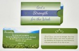 God's Strength of the Week, Laminated Scripture Cards in Paper Sleeves. Set of 7