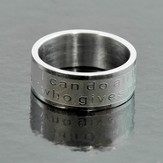 I Can Do All Things, Philippians 4:13 Band Ring, Size 8