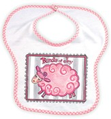 Bundle of Joy Lamb Bib, Pink