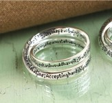 Serenity Prayer Double Mobius Ring, Size 10