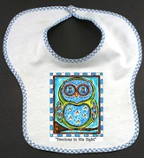 Owl Bib, Precious In His Sight, Blue