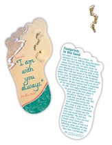 Footprints Matthew 28:20, Shaped Bookmark and Pin