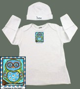 Owl Baby Gown, Precious In His Sight, Blue