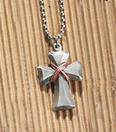 Wrapped Cross Budded Necklace