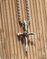 Wrapped Cross Thin Necklace