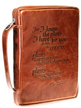 I Know the Plans Bible Cover, Tan, Medium
