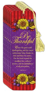 Be Thankful Bookmark, Pack of 6