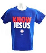 Know Jesus Shirt, Blue, Large