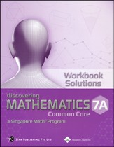 Discovering Mathematics Workbook Solutions 7A (Common Core State Standards Edition)