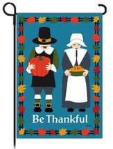 Be Thankful Garden Flag, Pilgrim Couple