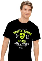 Put On the Whole Armor Of God Shirt, Black, Large