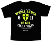 Whole Armor Of God Shirt, Black, Youth Medium