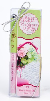 Amazing Grace For A Mother's Heart Pen and Bookmark Set, Spanish