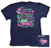 Hope and Future Shirt, Navy, Large