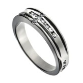 Channel Cross Woman of God Ring, Size 9