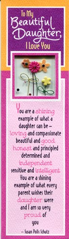 To My Beautiful Daughter Bookmark