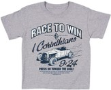 Race To Win Shirt, Gray, 4 Toddler