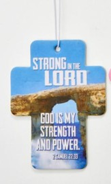 God Is My Strength and Power Air Freshener