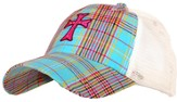 Plaid Cap with Cross