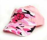 Camo Cap with Cross, Pink