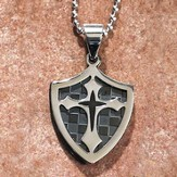 Double Cross Shield Pendant