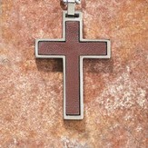 Leather Cross Pendant, Brown