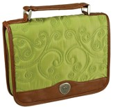 Quilted Bible Cover, Green, Large
