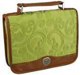 Quilted Bible Cover, Green, Medium