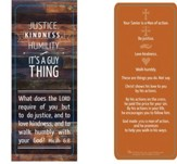 Justice, Kindness, Humility Jumbo Bookmark