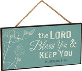 The Lord Bless You and Keep You, Hanging Sign