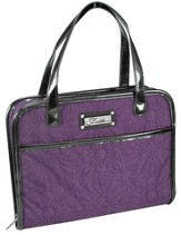 Quilted, Purse Style Bible Cover, Purple, Large