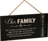 Our Family, The Lord Bless You, Hanging Sign