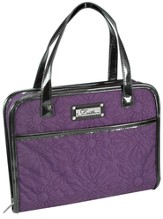 Quilted, Purse Style Bible Cover, Purple, Medium