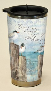 To See A World In A Grain Of Sand, Coastal Breeze Travel Mug