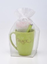 Amazing Grace Mug, Pen, Notepad Gift Set