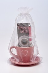 Timeless Faith Cup and Saucer, Pen, Bookmark Gift Set