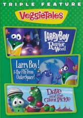 LarryBoy Triple Feature: LarryBoy & the Rumor Weed, LarryBoy  & the Fib from OuterSpace and Dave & the Giant Picke