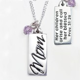 Mom Necklace, Proverbs 31:28