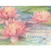 He Leads Me Beside Still Waters, Water Lily Boxed Note Cards