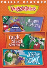 VeggieTales Triple Feature: Madame Blueberry, Rack Shack &  Benny and Josh & the Big Wall