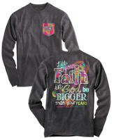 Big Faith, Long Sleeve Shirt, Gray, XX-Large