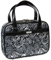 Paisley Purse Style Bible Cover, Gray, Large